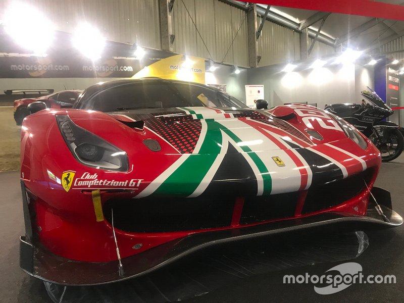 Ferrari 488 GT3 in esposizione