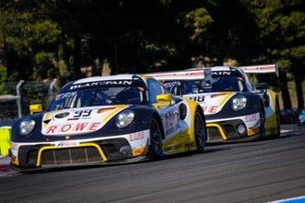 #99 ROWE Racing Porsche 911 GT3 R: Dirk Werner, Matt Campbell, Dennis Olsen, #98 ROWE Racing Porsche 911 GT3 R: Mathieu Jaminet, Romain Dumas, Sven Müller