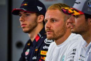 Valtteri Bottas, Mercedes AMG F1, Pierre Gasly, Red Bull Racing and Carlos Sainz Jr., McLaren in Press Conference
