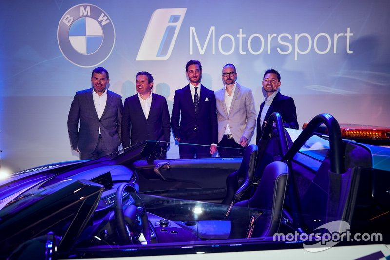 "Unveil of the BMW i8 Roadster Safety Cars at ""Yacht Club de Monaco"" with Robert Irlinger, Vincent Salimon, Pierre Casiraghi, Michael Scully, Bruno Correia"