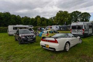 Honda e l'atmosfera al Campeggio