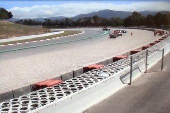 Screenshot incidente Callum Ilott, Alfa Romeo Racing C38