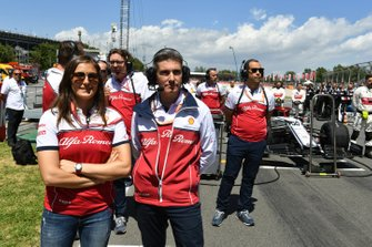 Tatiana Calderon, Alfa Romeo Racing, on the grid