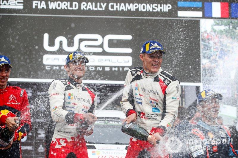 Podio: Il Vincitore Ott Tänak, Martin Järveoja, Toyota Gazoo Racing WRT Toyota Yaris WRC