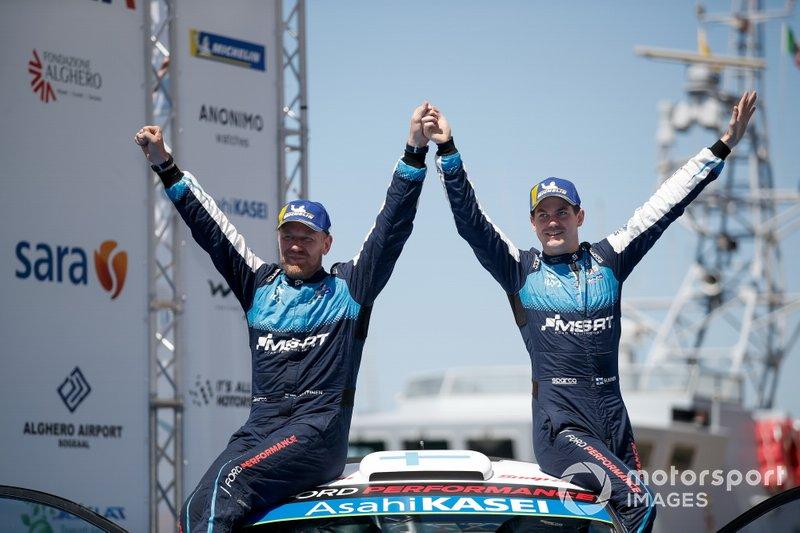Podio: Teemu Suninen, Jarmo Lehtinen, M-Sport Ford WRT Ford Fiesta WRC