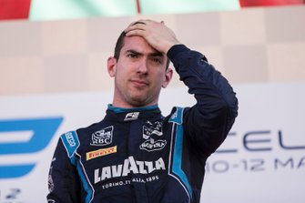 Podium: race winner Nicholas Latifi, Dams