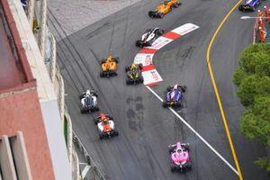 Dorian Boccolacci, Campos Racing, leads Nikita Mazepin, ART Grand Prix, Guanyu Zhou, UNI Virtuosi Racing and Jack Aitken, Campos Racing