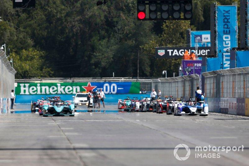 Mitch Evans, Jaguar Racing, Jaguar I-Type 4 Maximilian Günther, BMW I Andretti Motorsports, BMW iFE.20