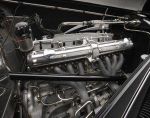 Moteur de l'Alfa Romeo 2900 8C Lungo Spider 1939