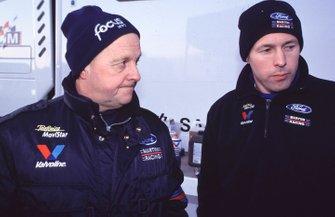 Colin McRae, Ford e il padre Jimmy, al Rally Monte Carlo del 2000