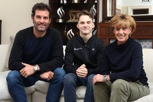 Mark Webber, Oscar Piastri and Ann Webber