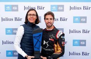 Antonio Felix da Costa, DS Techeetah, with the pole posistion award