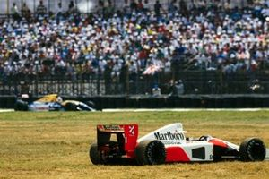 Ayrton Senna abandoned McLaren MP4-6B Honda. Nigel Mansell, Williams FW14B Renault