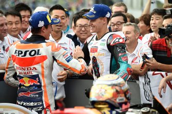 Race winner Marc Marquez, Repsol Honda Team, second place Fabio Quartararo, Petronas Yamaha SRT