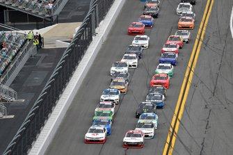 Michael Annett, JR Motorsports, Chevrolet Camaro AHA/Pilot Flying J and Myatt Snider, Richard Childress Racing, Chevrolet Camaro TaxSlayer