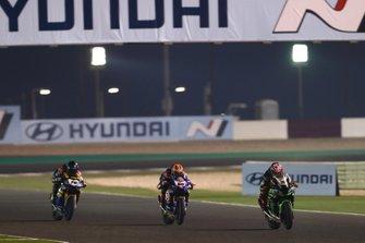 Leon Haslam, Kawasaki Racing Team, Michael van der Mark, Pata Yamaha, Loris Baz, Ten Kate Racing Yamaha