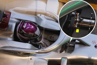 Lewis Hamilton, Mercedes F1 W11, steering wheel detail