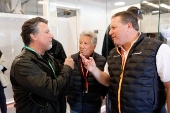 Michael Andretti, Mario Andretti, and Zak Brown, Executive Director, McLaren
