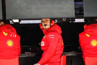 Laurent Mekies, Sporting Director, Ferrari, on the pit wall