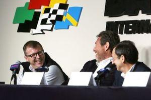 Pierre Fillon, ACO President, Gerard Neveu, FIA WEC CEO, John Doonan, IMSA President