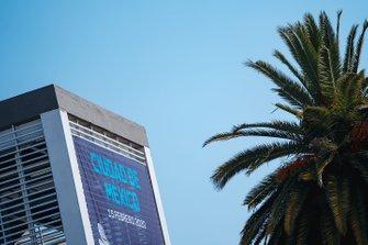 Un cartel que anuncia el ePrix de la Ciudad de México