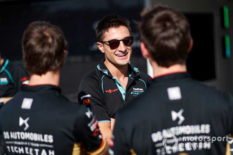 Mitch Evans, Jaguar Racing, discute avec Antonio Felix da Costa, DS Techeetah