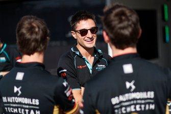 Mitch Evans, Jaguar Racing in gesprek met Antonio Felix da Costa, DS Techeetah