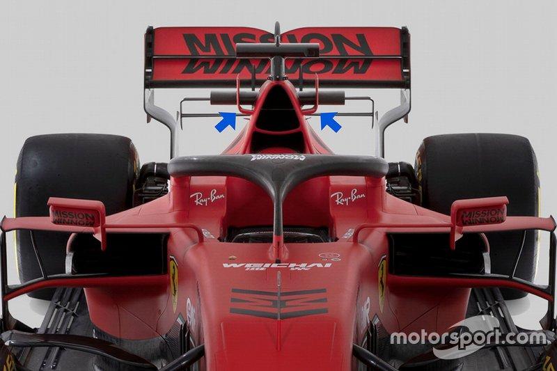 Dettaglio tecnico della Ferrari SF1000