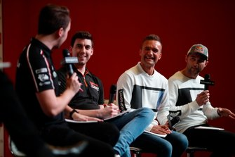 BTCC drivers Tom Ingram, Dan Cammish, Colin Turkington and Andrew Jordan are interviewed on the Autosport stage