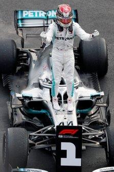 Lewis Hamilton, Mercedes AMG F1, celebra su victoria en México