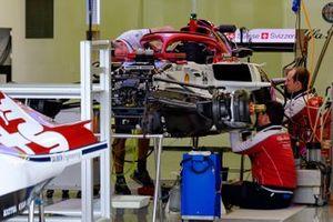 Alfa Romeo Racing C38 in the garage