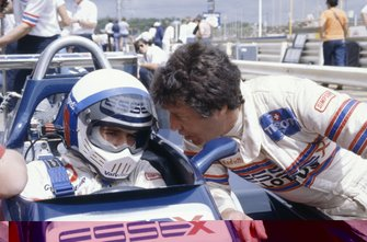 Elio de Angelis, Lotus 81-Ford Cosworth with team-mate Mario Andretti