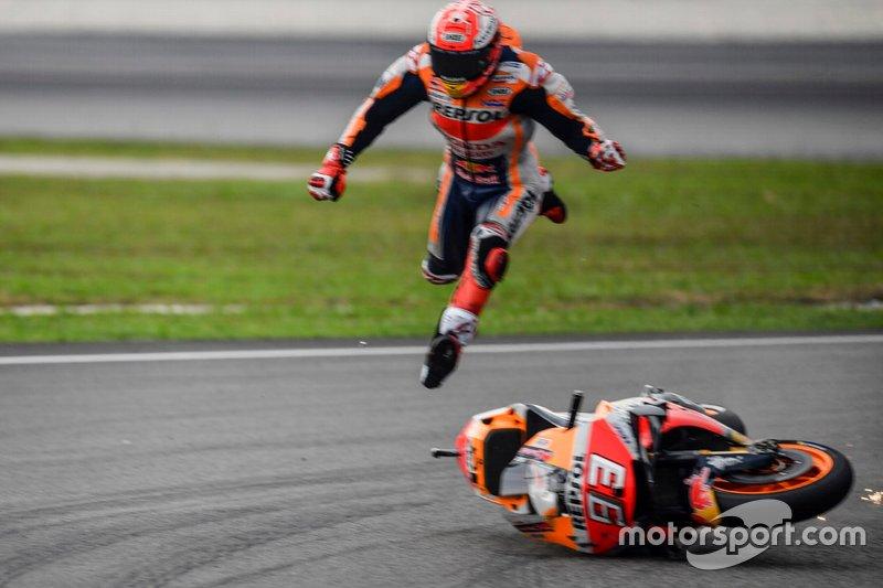 Marc Marquez, Repsol Honda Team - 14 caídas