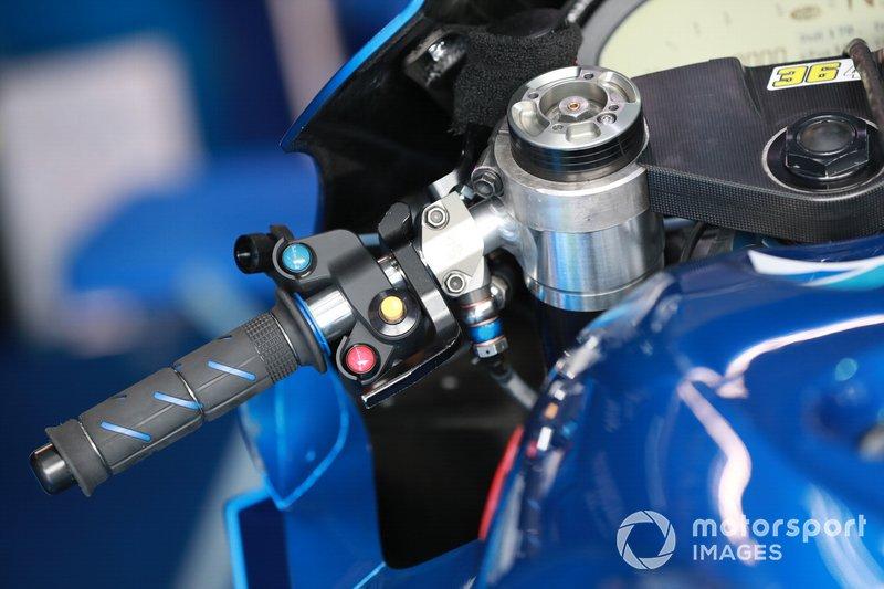 Het stuur van Joan Mir, Team Suzuki MotoGP