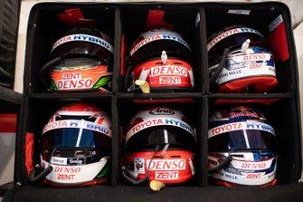 Cascos del Toyota Gazoo Racing