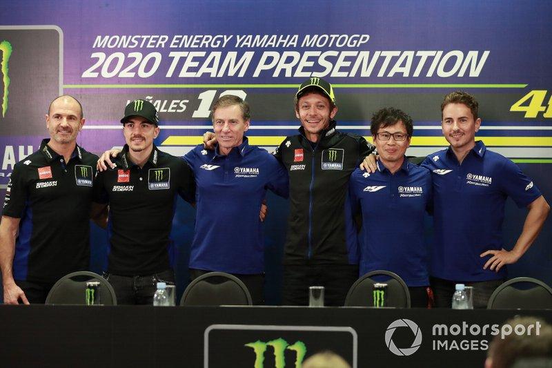 Maverick Vinales, Yamaha Factory Racing, Lin Jarvis,Valentino Rossi, Yamaha Factory Racing, Jorge Lorenzo, Yamaha Factory Racing