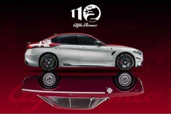 Logo celebrativo della Alfa Romeo