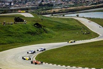 Renn-Action beim GP Brasilien 1980 in Interlagos: Gilles Villeneuve, Ferrari 312T5, führt