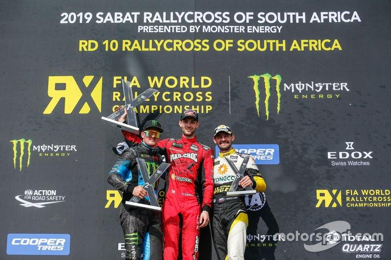 Подиум: победитель Никлас Гронхольм, GRX Taneco Team, второе место – Андреас Баккеруд, Monster Energy RX Cartel, третье место – Тимур Тимерзянов, GRX Taneco Team