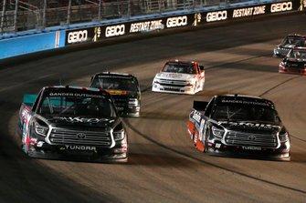 Harrison Burton, Kyle Busch Motorsports, Toyota Tundra Safelite AutoGlass and Dylan Lupton, DGR-Crosley, Toyota Tundra SHREDDY