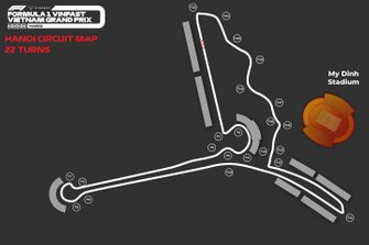 Hanoi circuit map with 22 turns