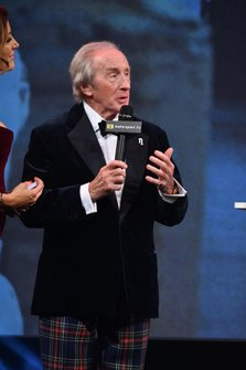 Sir Jackie Stewart, on stage after presenting a Gregor Grant Award to HSH Prince Albert II of Monaco
