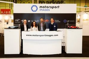 Motorsport Images staff Kevin Wood, Zoe Schafer, Martin Lee and James Claydon at the Motorsport Images display