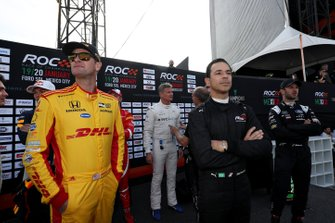 Ryan Hunter-Reay en Helio Castroneves