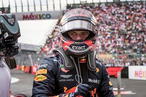 Winnaar Max Verstappen, Red Bull Racing viert feest in parce ferme