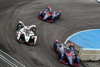 Sam Bird, Envision Virgin Racing, Audi e-tron FE05 Maximilian Gunther, Dragon Racing, Penske EV-3, Robin Frijns, Envision Virgin Racing, Audi e-tron FE05