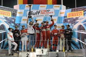 Podium: Race winner #11 Kessel Racing Ferrari 488 GT3: Michael Broniszewski, Davide Rigon, Alessandro Pierguidi, second place #88 Car Collection Motorsport Audi R8 LMS GT3: Dimitri Parhofer, Christopher Haase, Markus Winkelhock, third place #44 Attempto Racing Audi R8 LMS GT3: Clemens Schmid, Sean Walkinshaw, Giorgio Roda