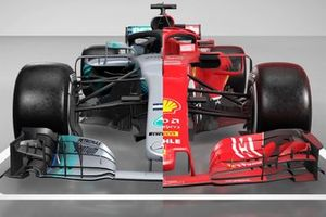 Mercedes AMG F1 W09 and Ferrari SF71H comparison