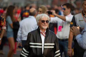 Bernie Ecclestone on the grid
