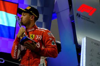 Sebastian Vettel, Ferrari fête sa victoire
